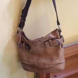 Leather coach purse with dustbag